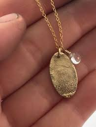 fingerprint bronze and 14k gold filled necklace made from jpeg fingerprint image gold fingerprint jewelry