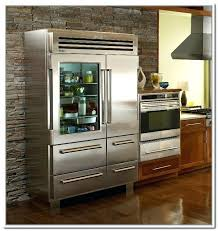 glass front refrigerator residential gorgeous
