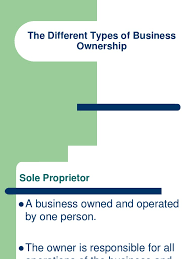 Business Ownership Types 6a Types Of Business Ownership Docshare Tips
