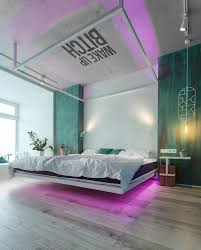 Lights For Apartment Bedroom A Kiev Apartment That Goes From Minimal To Neon Lights