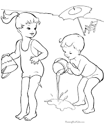 Small Picture Beach Girl Coloring Pages Printable Coloring Coloring Pages