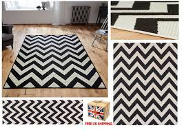 all sizes chevron malmo utility rugs hall runners zig zag monochrome rug black