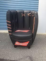 herman miller eames lounge chair craigslist inspirational rare and brand new budweiser baseball glove chair mancave
