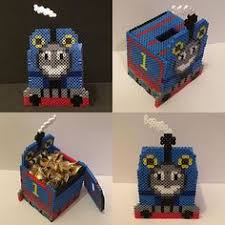 thomas the train perler bead box by amanda collison hamma beads thomas the train piggy bank box perler beads by thepixelizedprincess