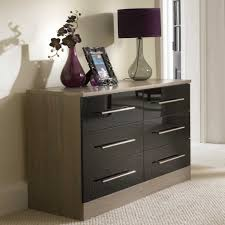 Glamorous High Gloss Furniture Furniture High Gloss Sideboard - Black and walnut bedroom furniture