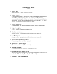 14 Project Outline Format Cover Letter