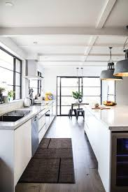 Industrial Kitchen Flooring White Lacquer Kitchen Cabinets Kitchen Modern With Bed Cable Stair