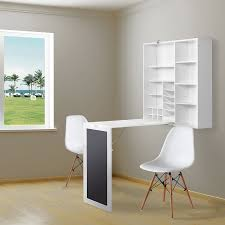 Wall Shelves With Desk Melamine Floating Wall Mount Desk With Shelving Storage Nooks