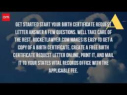 How Do I Get A Free Copy Of My Birth Certificate Youtube