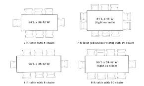 table sizes for 8 dining table dimensions for 8 round table size for 8 awesome dining