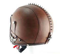 retro style pu leather motorcycle helmets motorcycle fans windproof safety punk open face helmet goggles mask 54 60cm in on