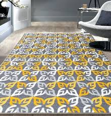 yellow and gray area rug geometric yellow gray area rug non slip non skid ed rugs