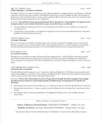 Sample Resume For Administrative Assistants Resume Template Executive Assistant Resume Template For