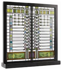 frank lloyd wright martin casement window stained glass craftsman decorative objects and figurines by maclin studio