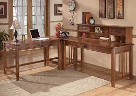 WCC Furniture Lafayette LA Cross Island L Shape Desk w Low Hutch