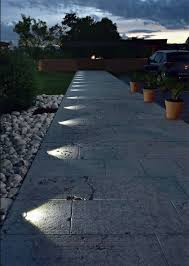 in ground lighting. Recessed, In Ground Lighting Suddenly Turns This Pathway Into A Nightime  Feature. -