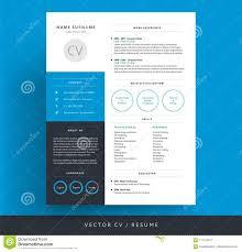 Modern Resume Color Professional Cv Resume Template Blue Background Color