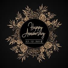 Anniversary Template Watercolor Vintage Floral Happy Anniversary Template For Free