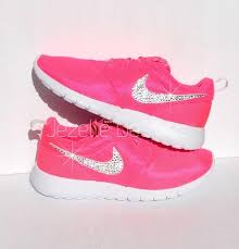 nike shoes for girls roshe. beautiful shoes girls bling nike roshe one w/ swarovski crystals -pink white bedazzled for
