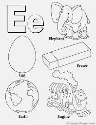 Kids Page: Letter E | Alphabet Letters Printable Worksheet for Kids