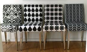 dining chairs in black and white by ninaribena1