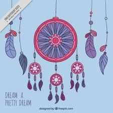 Colored Dream Catchers Classy Colorful Dream Catchers With Blue Background Vector Free Download