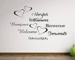 Wandtattoo Wandaufkleber Aufkleber Herzlich Willkommen Zu Hause