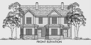 house plans with rear view surprising 10 duplex plans 2 story d