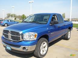 2008 Electric Blue Pearl Dodge Ram 1500 Big Horn Edition Quad Cab ...