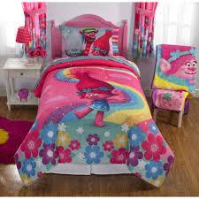 bedding roxy in bag dreamworks trolls show me smile poppy reversible twinfull bedding comforter girls comforters
