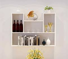 modern wall mounted black cube storage