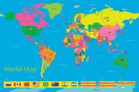 World Map Posters World Map Population Of Children Poster Sold At Abposters Com