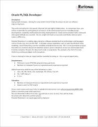 Sample Resume For Oracle Pl Sql Developer Best of Oracle Pl Sql Developer Resume Sample Good Looking Pretentious Pl