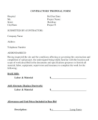 bid proposal forms free bid proposal template downloads findspeed