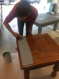 paint furniture without sandingDIY Table To Ottoman And How To Paint Furniture Without Sanding