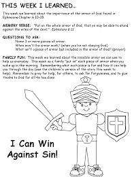 Fantastic Activity Sheet For Kids Armor Of God Lesson 1000 Ideas ...