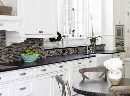 kitchen ideas white cabinets black countertop. Exellent Countertop Astonishing Kitchen Backsplash White Cabinets Black Countertop Regarding  And Ideas In Inside E