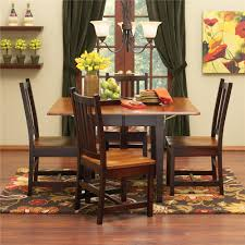 Maple Kitchen Table And Chairs Saber Solid Maple Drop Leaf Table Chair Set Morris Home