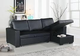 f6890 black convertible sectional sofa