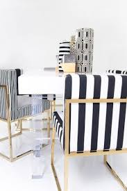black and white striped dining chair mod