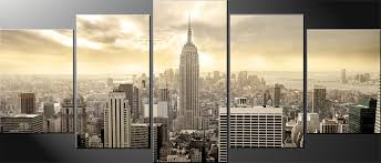 large five panel awesome pictures new york city canvas wall art building town city skyline awesome on new york city skyline canvas wall art with wall art amazing galleries new york canvas wall art new york