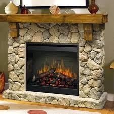 inch electric fireplace mantel inner glow logs stone and canyon heights