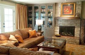 bookcases with glass doors living room traditional with none accent lighting family room