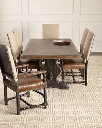 quick look furniture casella pedestal dining table available in brown