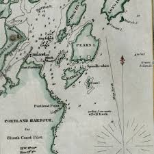 Nautical Charts New England Coast Amazon Com Portland Harbour Maine 1854 Blunt Nautical Chart