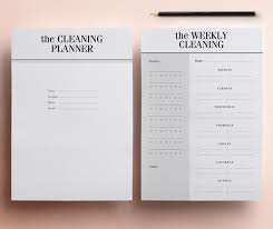 Cleaning Planner Pack Cleaning Checklists Daily Weekly Monthly With Family Chore Chart 9 Organizer Pages Instant Download Planner
