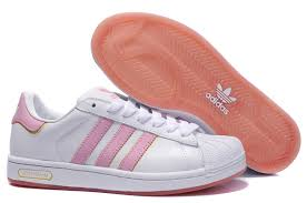 adidas shoes pink and white. adidas ladies white pink superstar shoes and s