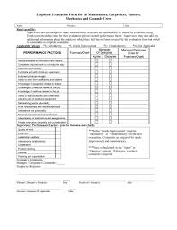 Restaurant Manager Review Forms 46 Employee Evaluation Forms Performance Review Examples