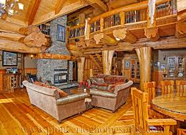 Log Cabin Style Living Room & Loft Designs