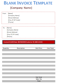 Blank Invoice Template Doc Simple Blank Invoice Template 48 Free Blank Invoices